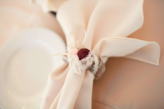 Vintage Inspired Handmade Wedding Pink Roses Buttons