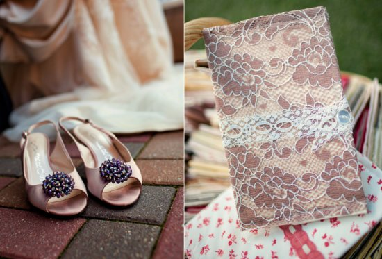 Handmade Vintage Wedding Bridal Heels Ceremony Programs