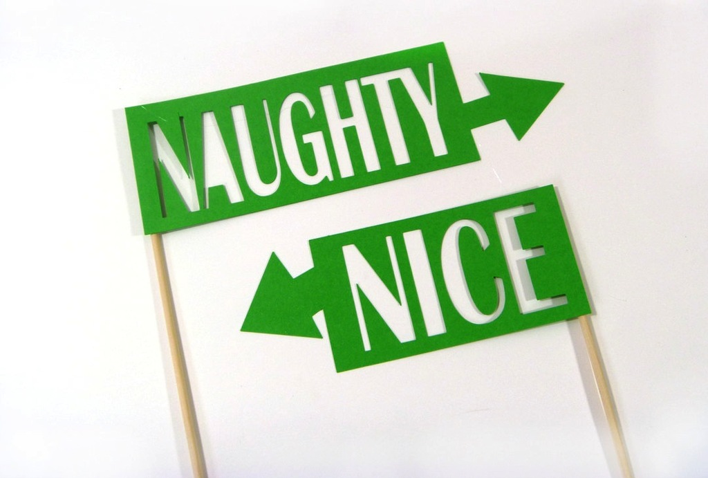 Fun Wedding Reception Photo Booth Signs Naughty Or Nice