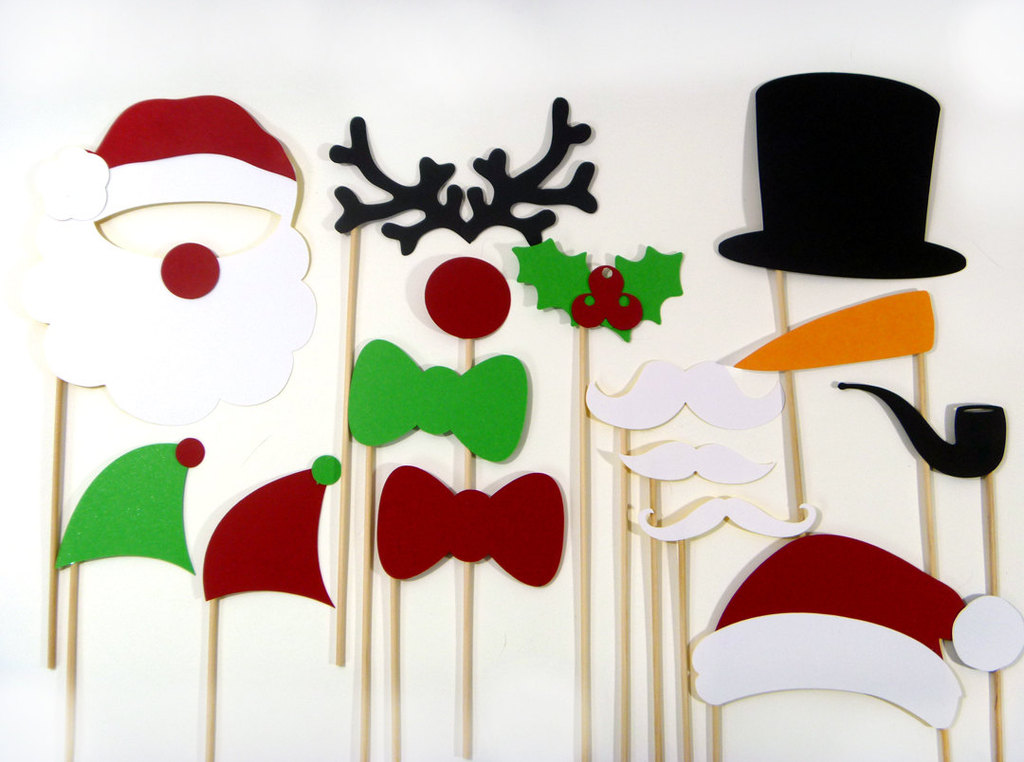 Holiday Wedding Photo Booth Props