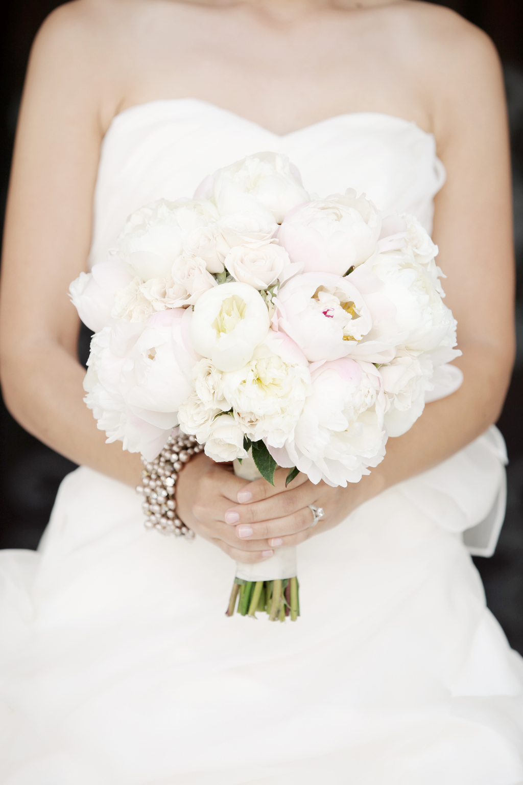 Soft Pink Peony Bridal Bouquet Classic California Wedding