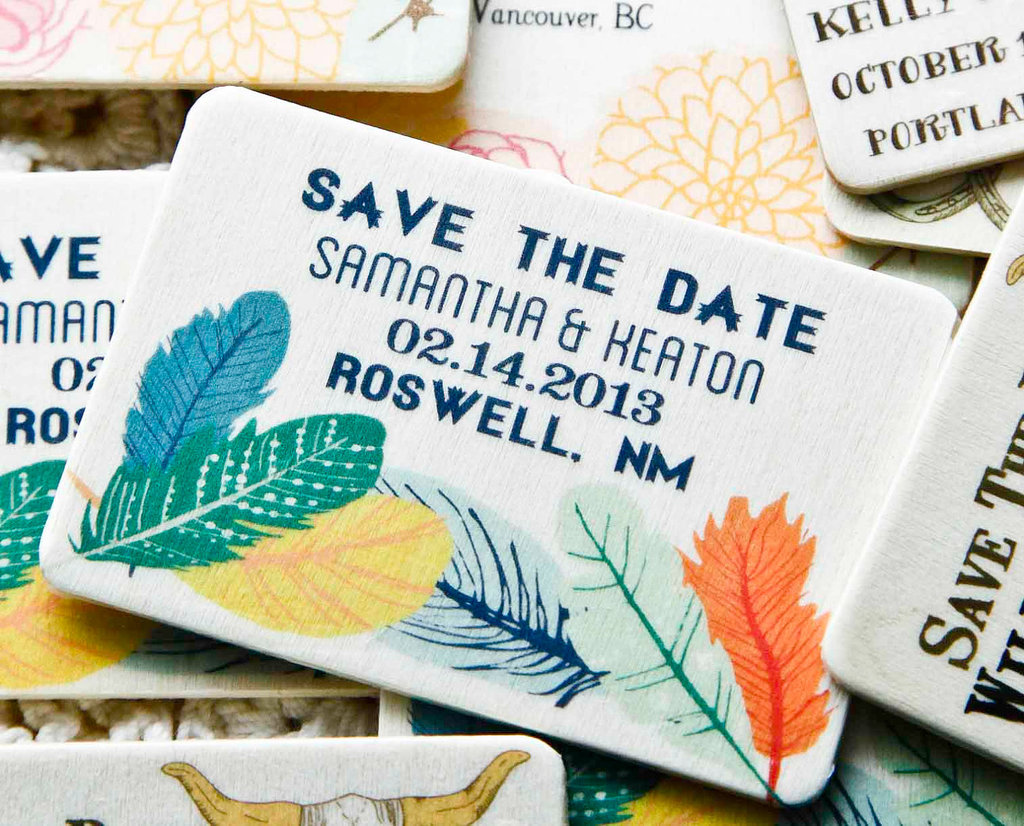Colorful-feather-wedding-save-the-dates.full