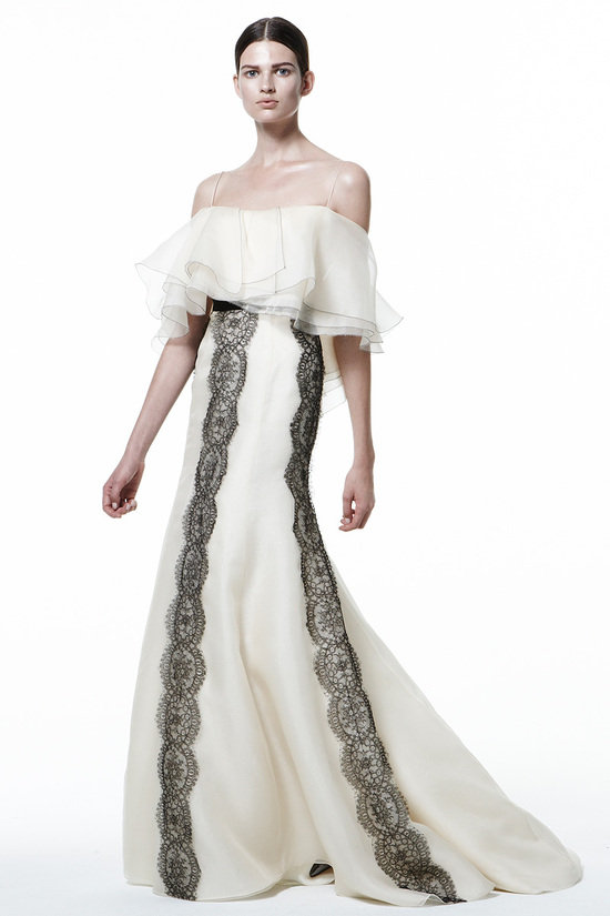 Bridal Style Inspiration J Mendel Pre Fall 2013 Cream Black Lace