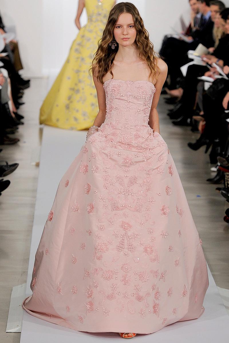 Blush Pink Oscar de la Renta Ballgown