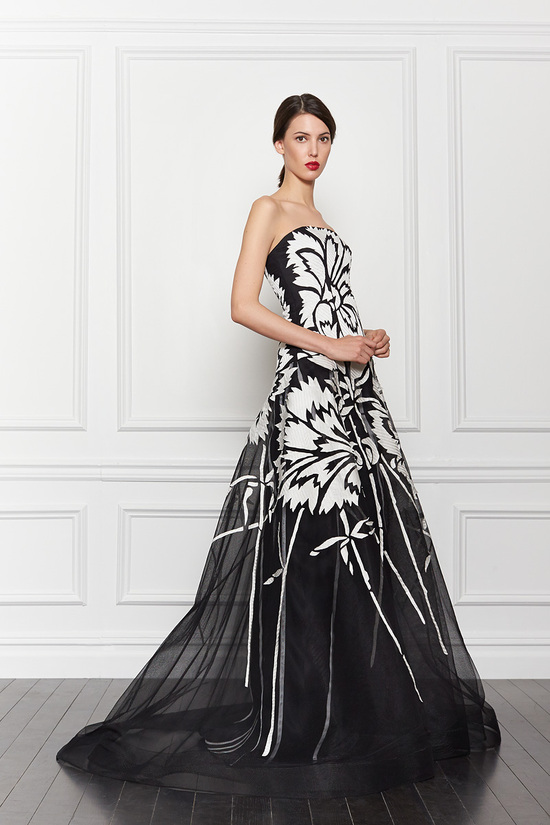 Black and White Print Wedding Dress by Carolina Herrera