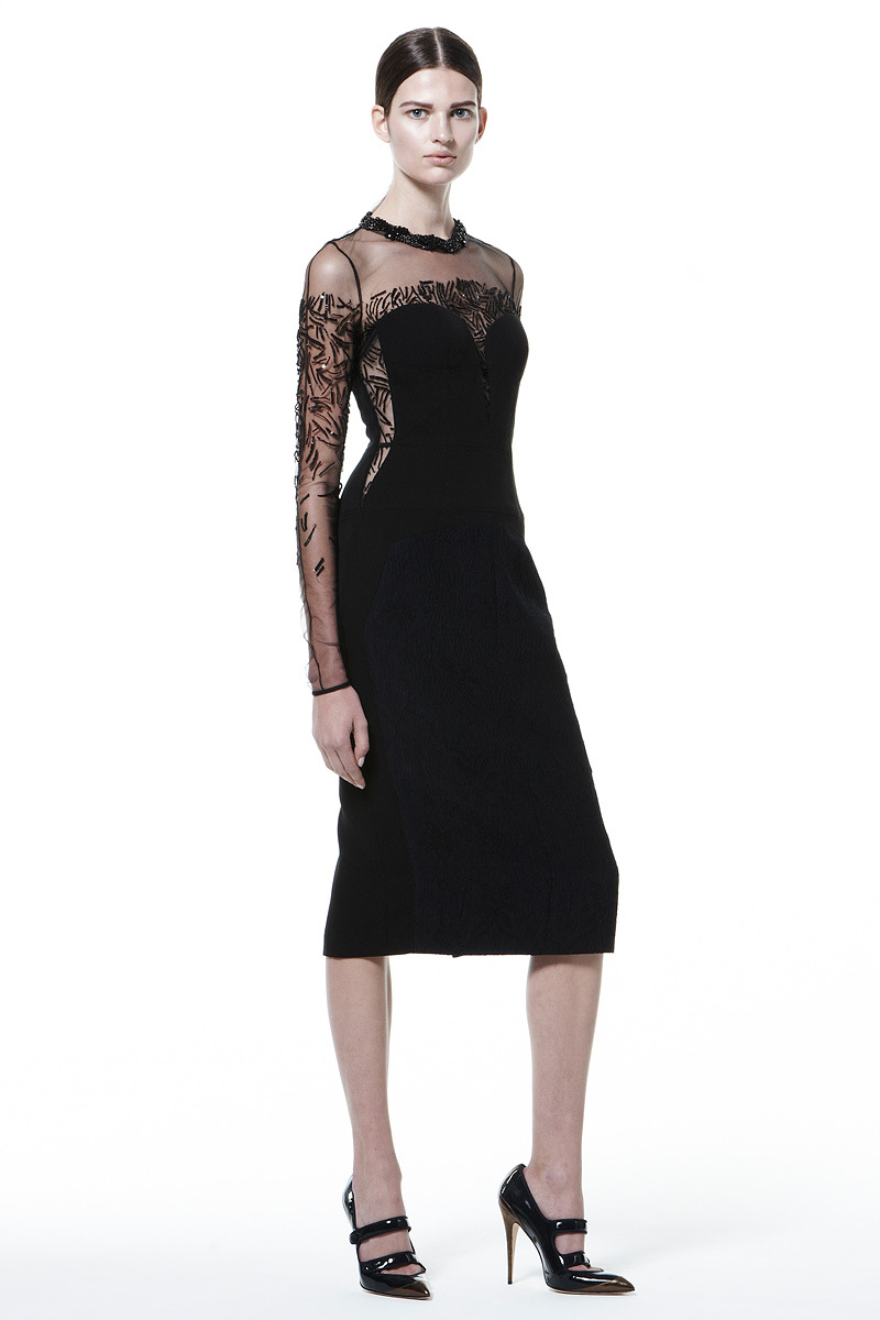 Black-velvet-bridesmaid-dress-with-sheer-sleeves.full