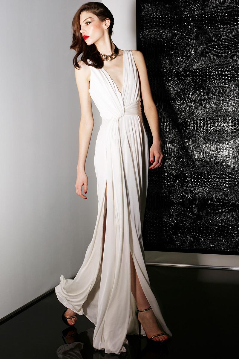 Deep-v-neck-jason-wu-wedding-dress-perfect-for-beach-destination-wedding.full