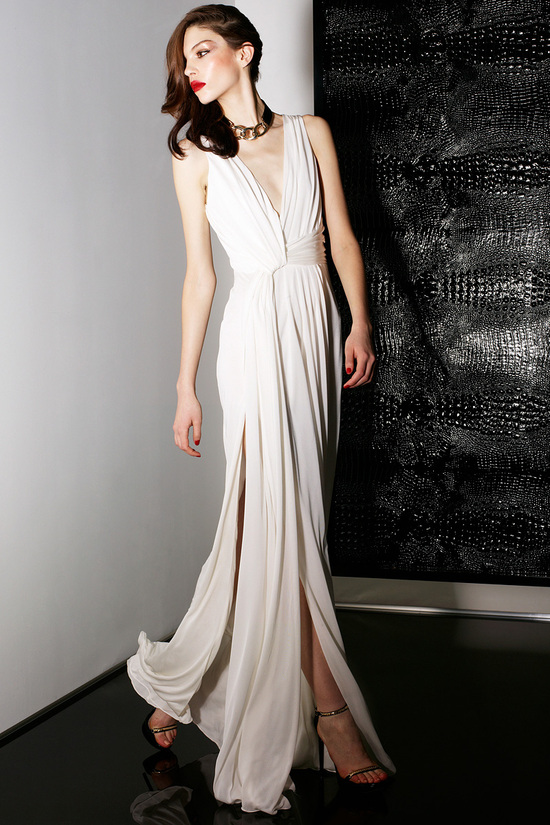 Deep V Neck Jason Wu Wedding Dress perfect for Beach Destination Wedding