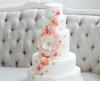 Classic-white-wedding-cake-peach-gold-cascading-blooms.square