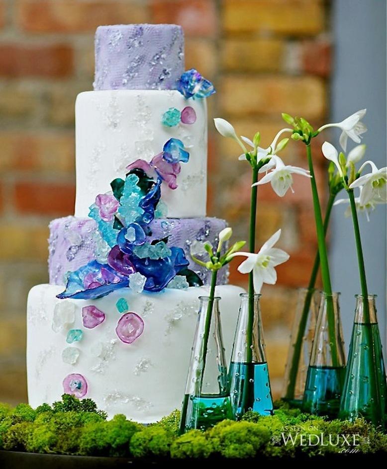 Unique-wedding-cake-with-aqua-lilac-navy-sugar-details.full