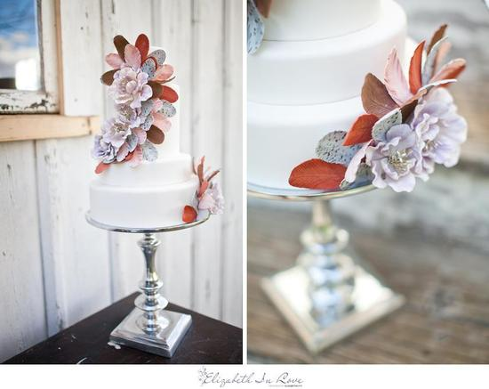 Bohemian Romance Simple Wedding Cake
