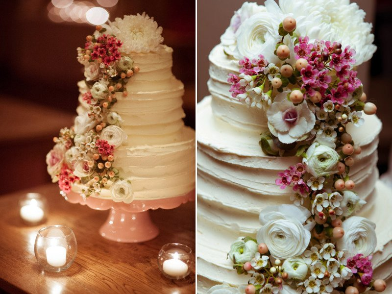 Romantic Wedding Cake Rose Gold Florals