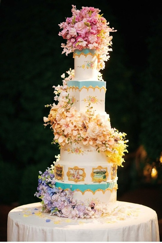 Whimsical Wedding Cake by Sylvia Weinstock