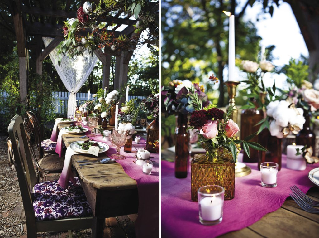 DIY Wedding Projects Ombre Table Linens for Rustic I Dos