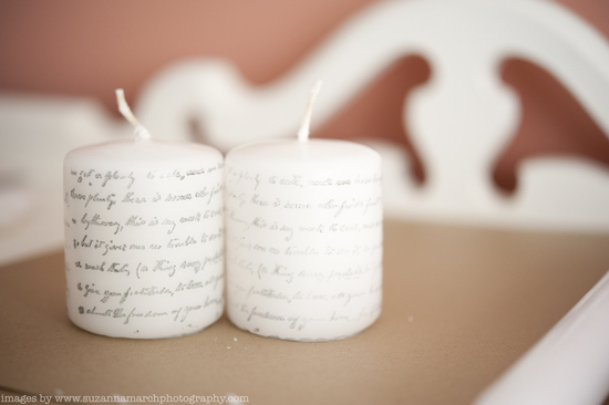 DIY Wedding Ideas Printed Candles