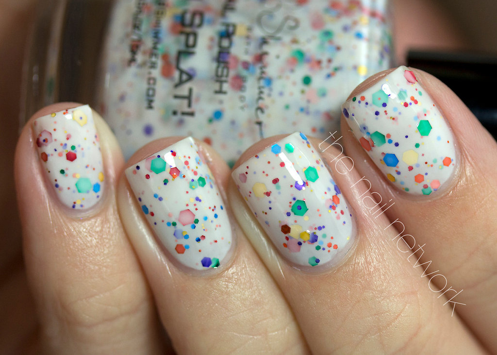 Confetti Nail Polish for Festive Brides