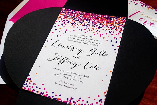 Confetti Inspired Wedding Invitations