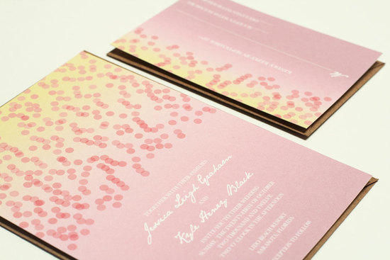 Modern Confetti Wedding Invitations