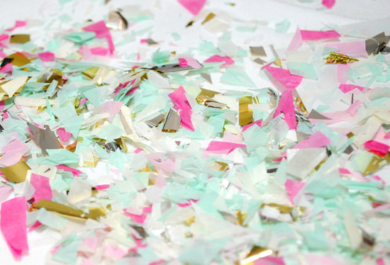 Pastel and Metallic Wedding Confetti