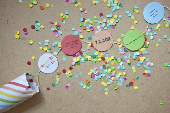Confetti Poppers for Holiday Weddings