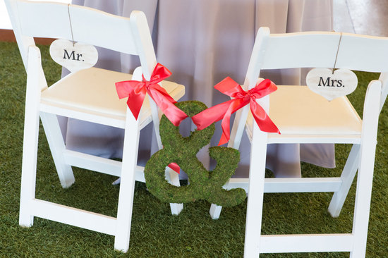 Moss Wedding Reception Decor Accents