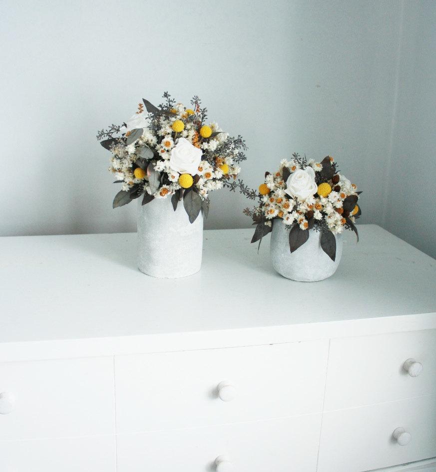 Eco wedding flower alternatives dried centerpieces