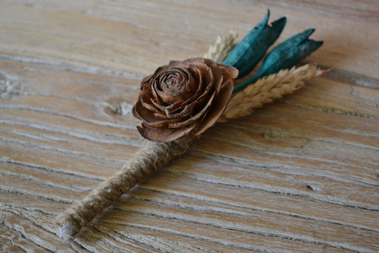 Rustic Eco Grooms Boutonniere