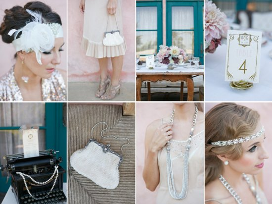Great Gatsby Wedding Theme Bridal Style 2