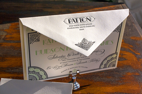 Great Gatsby Inspired Wedding Invitations