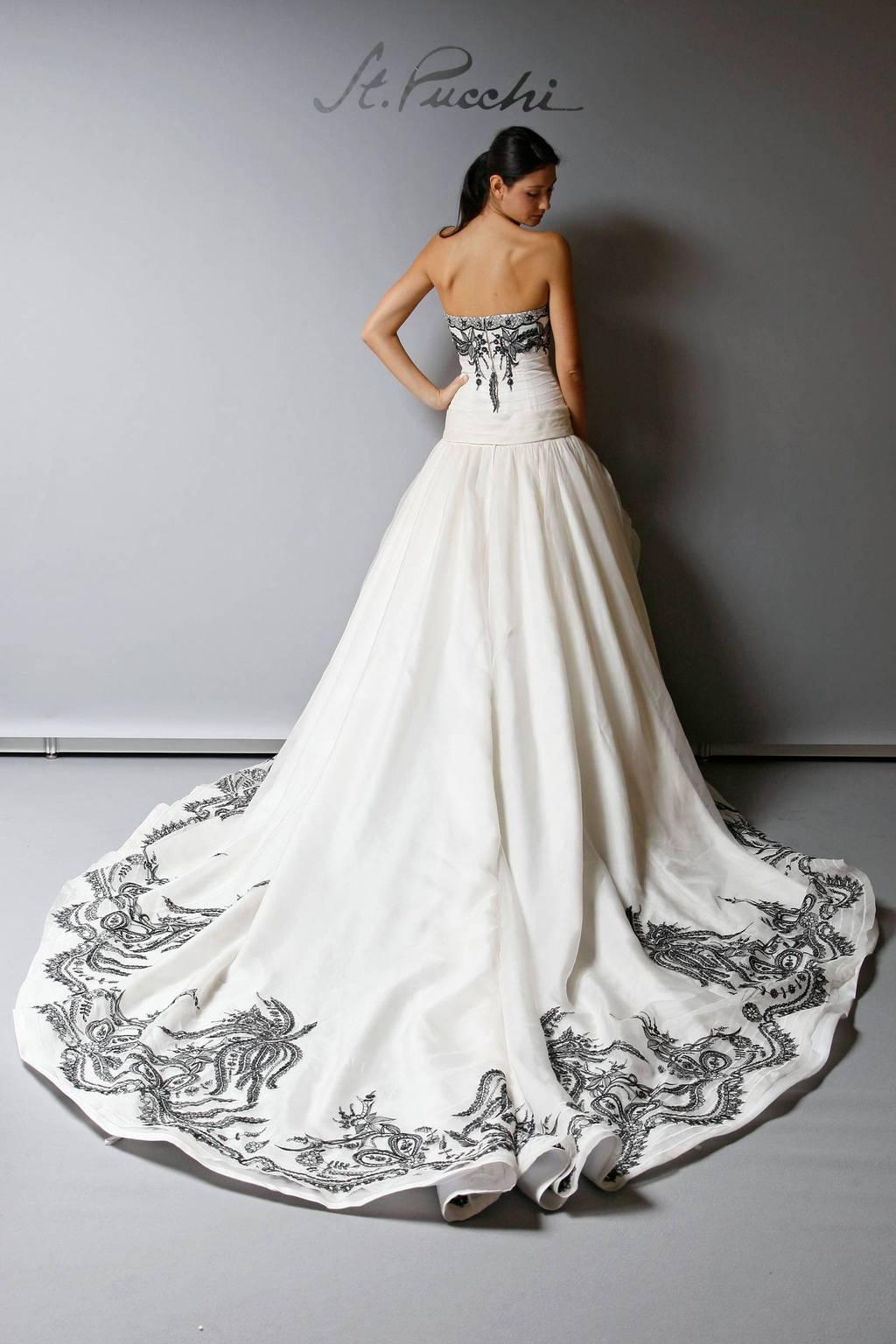 2013 Wedding Dress St Pucchi Bridal cream with black