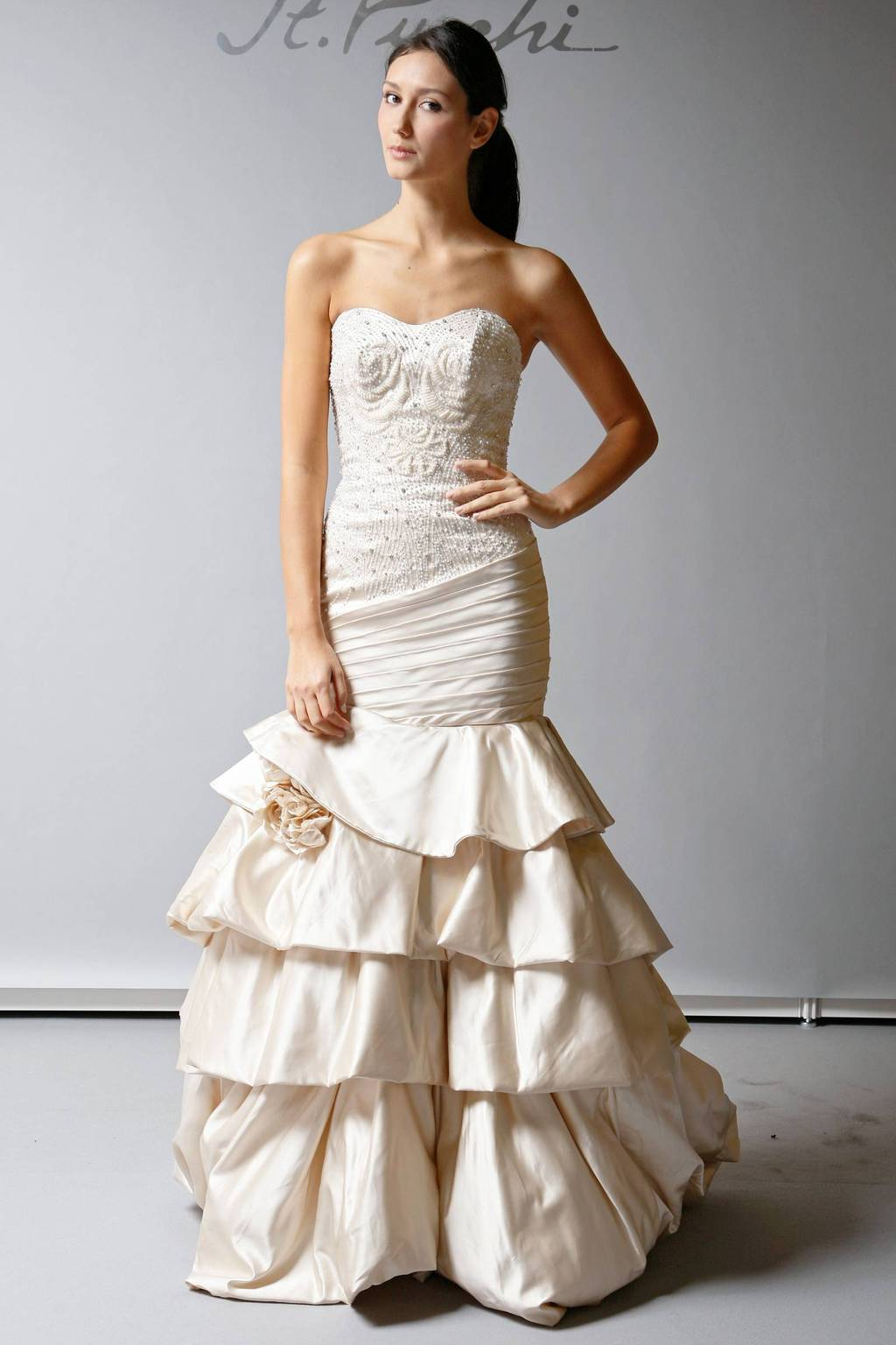 2013 Wedding Dress St Pucchi Bridal beaded mermaid