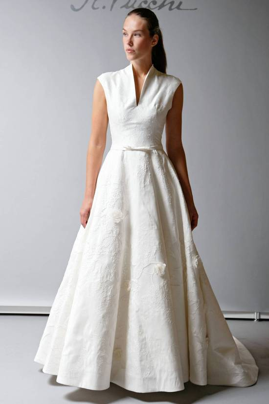 2013 Wedding Dress St Pucchi Bridal modest cap sleeve a line