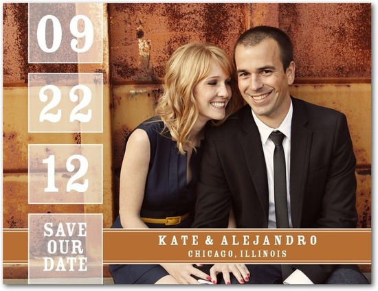 Save the date postcards, Our Date