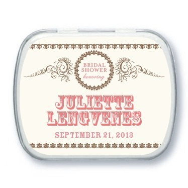 Personalized mint tins, Antique Affair