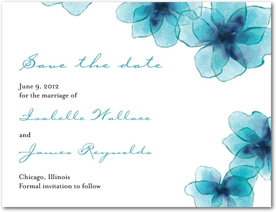 photo of Signature white textured save the date cards, Dreamy Destination