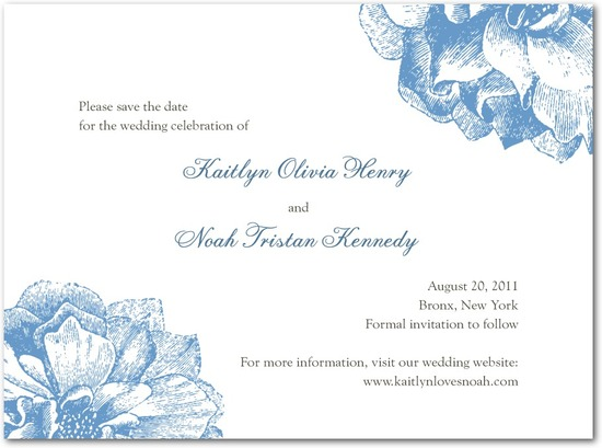 photo of Signature white textured save the date cards, Sweet Peonies