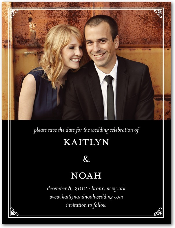 photo of Signature white save the date cards, Vision of Love