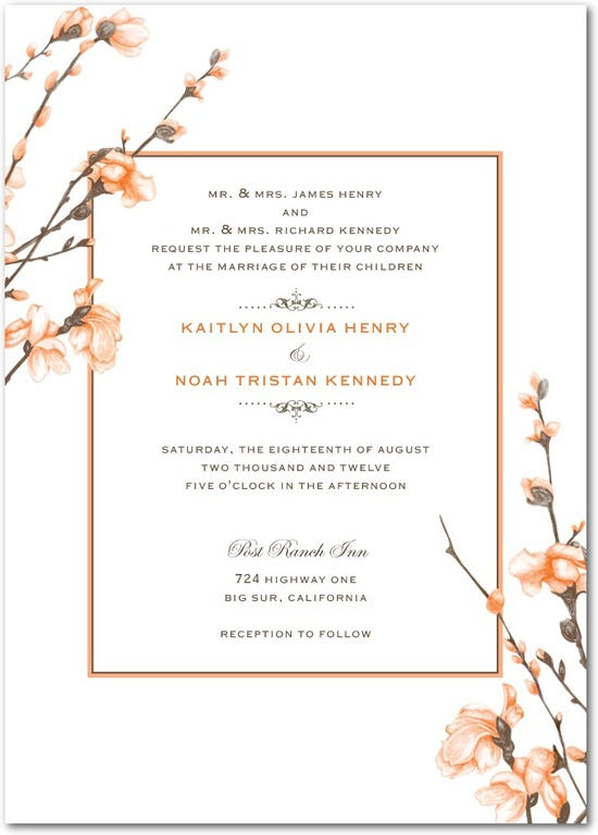 photo of Signature white textured wedding invitations, Fine Forsythia