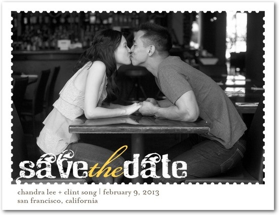 Save the date postcards, Dreamy Day