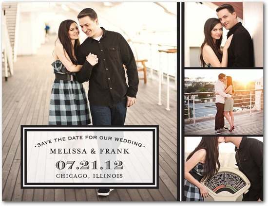 Save the date postcards, Sealed Style