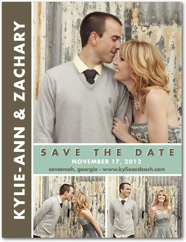 photo of Save the date postcards, Chic Couple