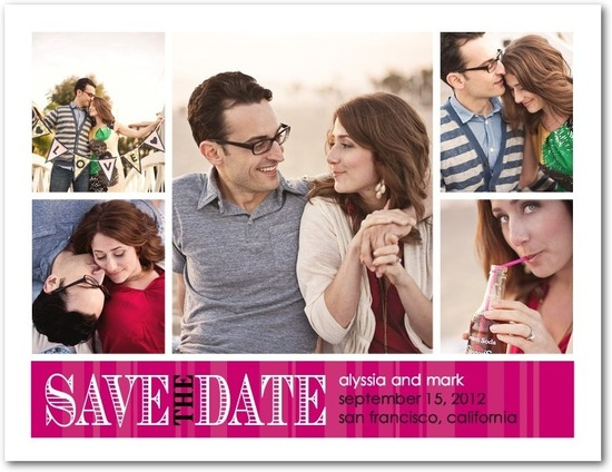 Save the date postcards, Romantic Outlook