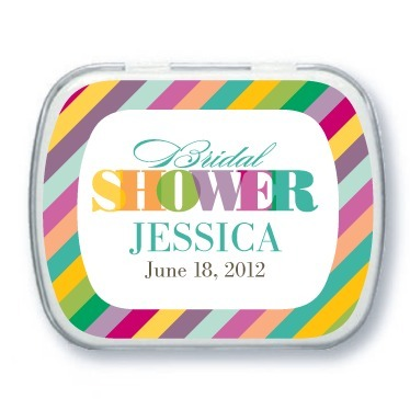 Personalized mint tins, Rainbow Shower