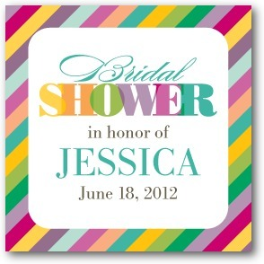 Personalized gift tag stickers, Rainbow Shower