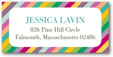 Personalized address labels, Rainbow Shower