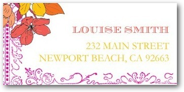 Personalized address labels, Bold Garden
