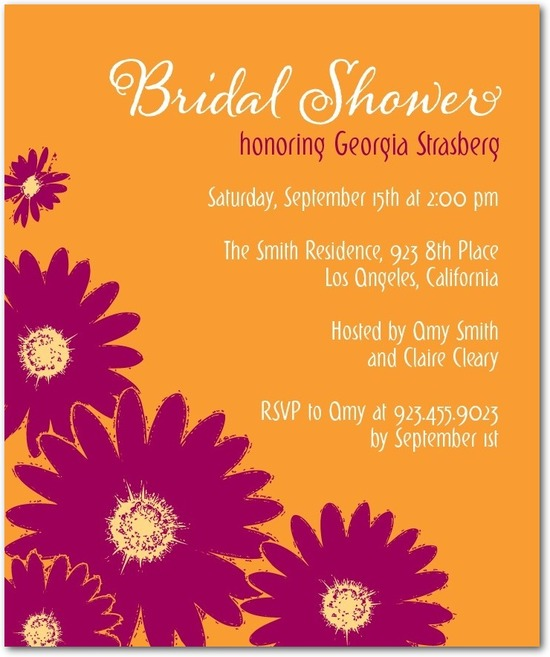 Studio basics: bridal shower invitations, Stamped Spring