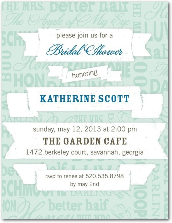 Bridal shower postcards, Banner Collage