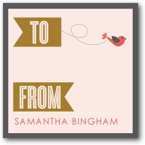 Personalized gift tag stickers, Little Bird Banner