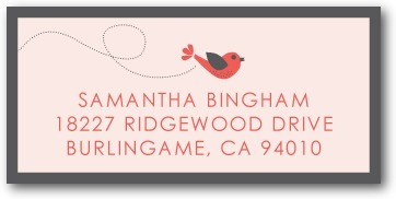 photo of Personalized address labels, Little Bird Banner